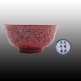郎窑红龙纹碗